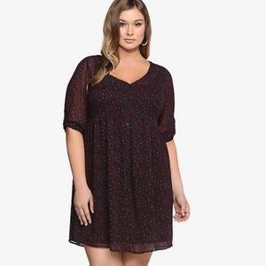 Torrid Animal Print Chiffon Shirt Dress Size 3X